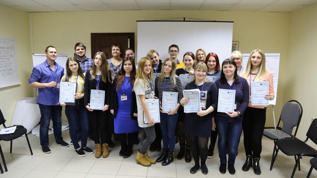 Вручение сертификатов о прохождении воркшопа, контакт центр ИЦ 21 век